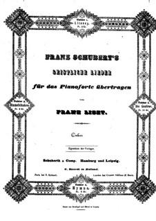 Транскрипции на темы песен Шуберта, S.562: No.2 Intimations of Heaven by Франц Лист