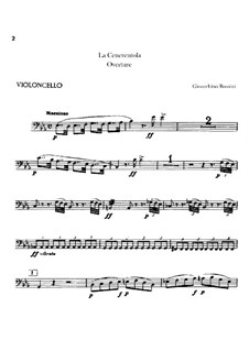 Золушка: Увертюра – партия виолончели by Джоаккино Россини