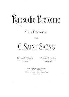 Rhapsodie Bretonne, Op.7bis: Rhapsodie Bretonne by Камиль Сен-Санс