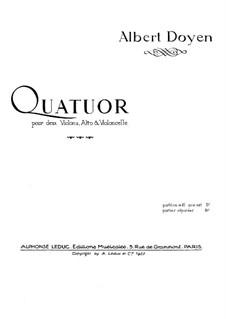 Струнный квартет ре мажор: Скрипка I by Альбер Дуайен