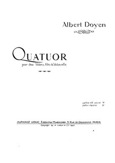Струнный квартет ре мажор: Партия виолончели by Альбер Дуайен