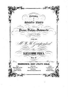 Фортепианное трио No.1 си-бемоль мажор, Op.11: Партия фортепиано by Александр Феска