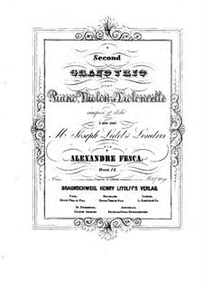 Фортепианное трио No.2 ми минор, Op.12: Партия фортепиано by Александр Феска