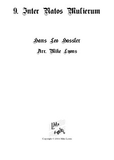 Cantiones Sacrae: No.09 Inter natos mulierum, for brass quartet by Ханс Лео Хасслер