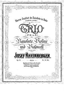 Фортепианное трио No.3 си-бемоль мажор, Op.121: Партитура by Йозеф Габриэль Райнбергер