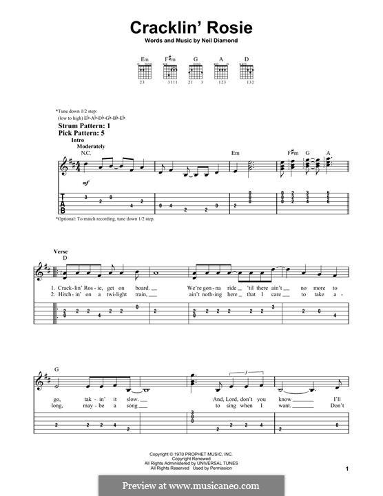 Cracklin' Rosie: Для гитары by Neil Diamond