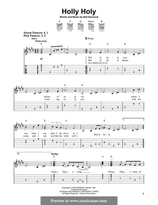 Holly Holy: Для гитары by Neil Diamond