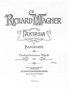Фантазия фа-диез минор, WWV 22: Фантазия фа-диез минор by Рихард Вагнер
