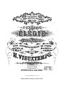 Элегия, Op.30: Для скрипки и фортепиано by Анри Вьетан