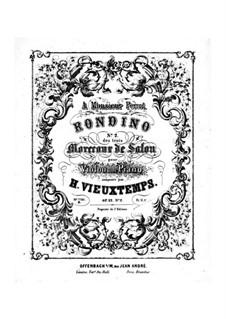 Три салонные пьесы, Op.32: No.2 Рондино  by Анри Вьетан