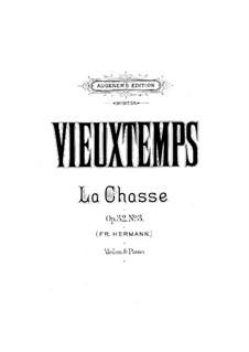 Три салонные пьесы, Op.32: No.3 La chasse by Анри Вьетан