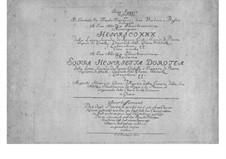 Шесть пьес для клавесина, флейты и струнных: Партии by Август Генрих Гера