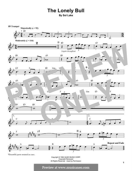 The Lonely Bull (Herb Alpert & The Tijuana Brass Band): Для трубы by Sol Lake