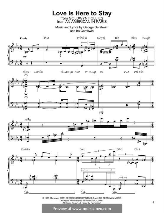Love is Here to Stay: Для фортепиано by Джордж Гершвин