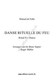 Ritual Fire Dance: For wind ensemble by Мануэль де Фалья