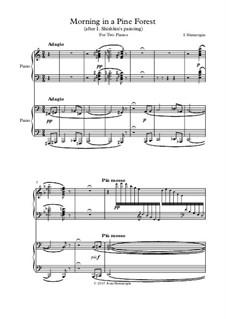 Утро в сосновом лесу (по картине И. Шишкина) для двух фортепиано: Утро в сосновом лесу (по картине И. Шишкина) для двух фортепиано by Иван Шмарыгин