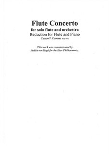 Flute Concerto, Op.691: Для флейты и фортепиано by Carson Cooman