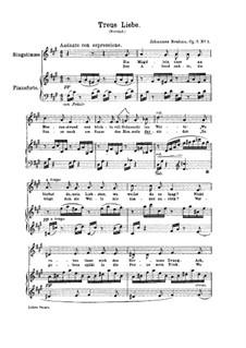 Шесть песен, Op.7: No.1 Treue Liebe (True Love) by Иоганнес Брамс