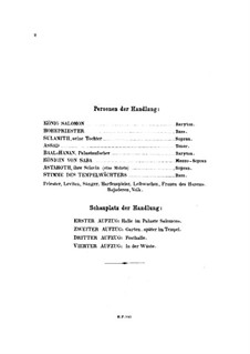 Царица Савская, Op.27: Сборник by Карл Голдмарк