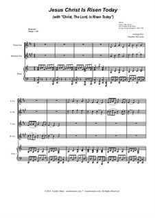 Jesus Christ Is Risen Today (with 'Christ, The Lord, Is Risen Today'): For saxophone quartet by Георг Фридрих Гендель, folklore
