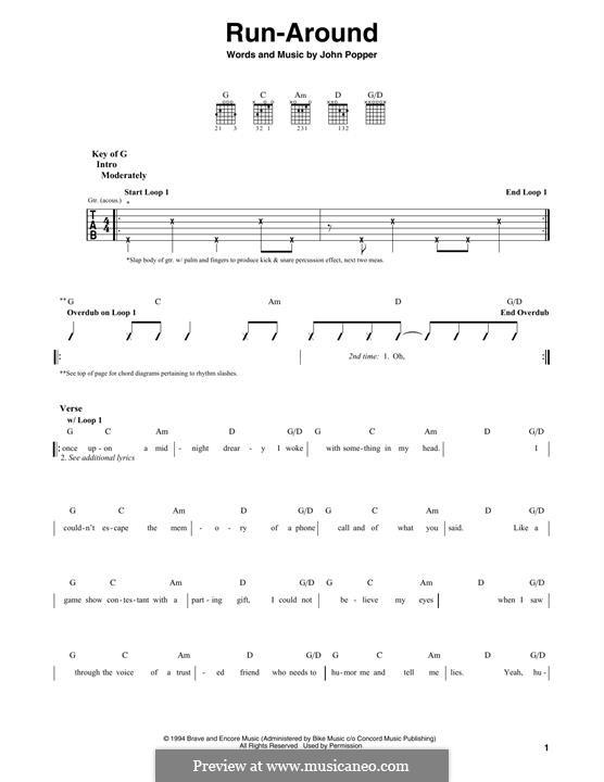 Run Around (Blues Traveler): Гитарная табулатура by John Popper