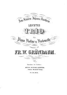 Лёгкое фортепианное трио си-бемоль мажор: Партитура by В. Грюнбаум