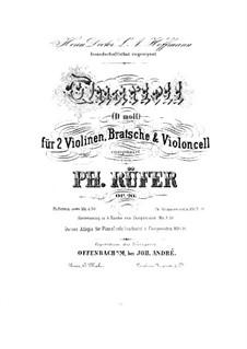 Струнный квартет No.1 ре минор, Op.20: Скрипка I by Филипп Рюфер