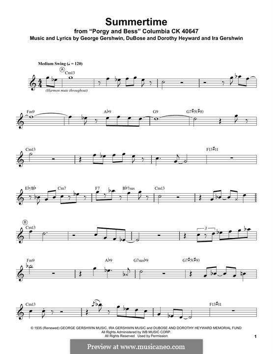 Summertime: Для трубы by Джордж Гершвин