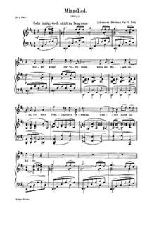 Пять песен, Op.71: No.5 Любовная песня by Иоганнес Брамс