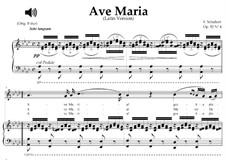 Аве Мария (вокально-фортепианная партитура), D.839 Op.52 No.6: For mezzo or baritone (A-Flat Major) with piano accompaniment by Франц Шуберт