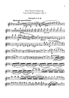 Воевода, TH 1 Op.3: Увертюра – партии кларнетов by Петр Чайковский