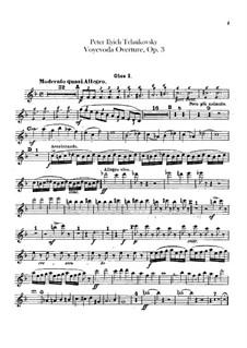 Воевода, TH 1 Op.3: Увертюра – партии гобоев и английского рожка by Петр Чайковский