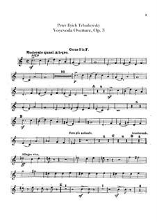 Воевода, TH 1 Op.3: Увертюра – партии валторн by Петр Чайковский