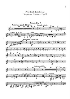 Воевода, TH 1 Op.3: Увертюра – партии труб by Петр Чайковский