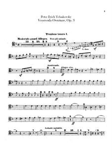 Воевода, TH 1 Op.3: Увертюра – партии тромбонов и тубы by Петр Чайковский