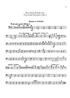 Воевода, TH 1 Op.3: Увертюра – партии ударных by Петр Чайковский