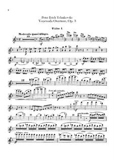 Воевода, TH 1 Op.3: Увертюра – партия первых скрипок by Петр Чайковский
