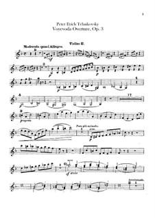 Воевода, TH 1 Op.3: Увертюра – партия вторых скрипок by Петр Чайковский
