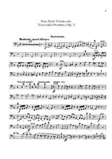 Воевода, TH 1 Op.3: Увертюра – партия контрабасов by Петр Чайковский