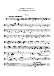 Воевода, TH 1 Op.3: Увертюра – партия альтов by Петр Чайковский