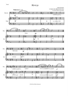 Rêvé-je: For bassoon and harp by Gabriel Bataille