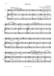 Rêvé-je: For viola and harp by Gabriel Bataille