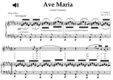 Аве Мария (вокально-фортепианная партитура), D.839 Op.52 No.6: For soprano or tenor (B Major) with piano sing-along by Франц Шуберт