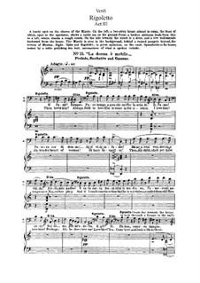 Фрагменты: Акт III, для солистов, хора и фортепиано by Джузеппе Верди