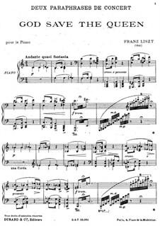 Концертный парафраз на тему 'Боже, храни королеву', S.235: Концертный парафраз на тему 'Боже, храни королеву' by Франц Лист