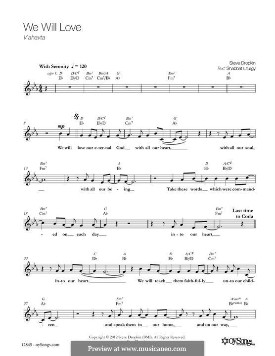 We Will Love: Мелодия by Steve Dropkin