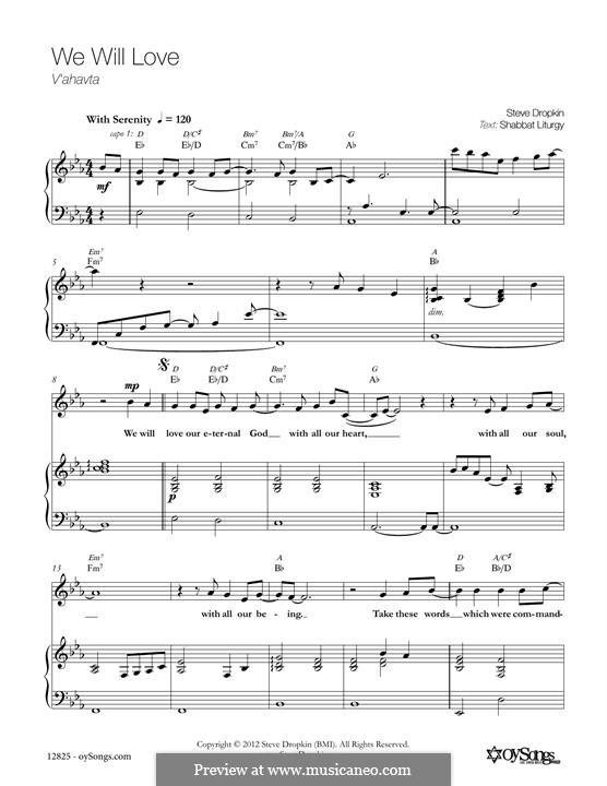 We Will Love: Для голоса и фортепиано by Steve Dropkin