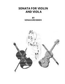 Sonata: For violin and viola by Sonja Grossner