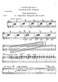 Все части: Партия первого фортепиано by Камиль Сен-Санс