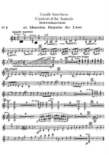 Все части: Партия первой скрипки by Камиль Сен-Санс